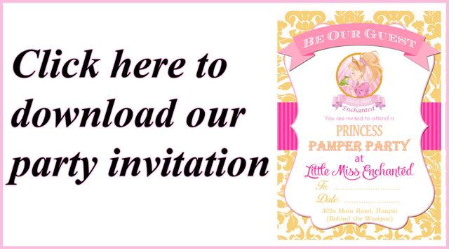 Little Miss Enchanted Pamper Parties Auckland Download Our Invitation