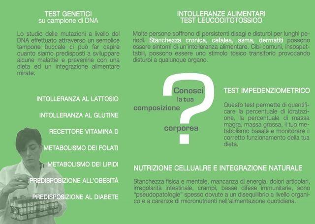 brochure informativa sulle intolleranze alimentari