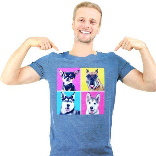 L'uomo con la maglietta stampata a Villaurbana