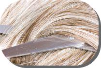 Cutting blonde hair