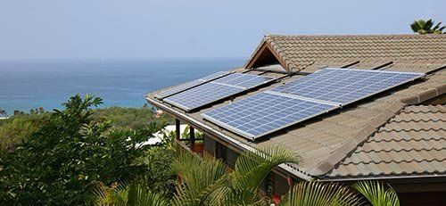 View of solar panel after maintenance in Kailua-Kona, HI