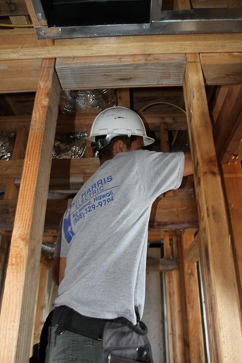 New wiring in the newly constructed house in Kailua-Kona, HI