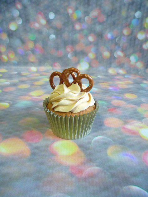 Sea salted caramel pretzel cupcake