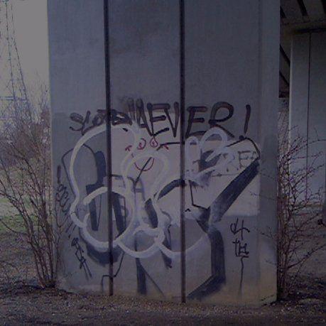 before graffiti removal