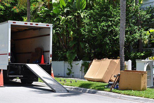 Camion per trasloco condominiale