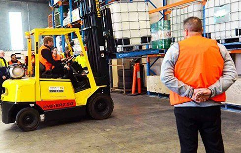 advanced heavy vehicle driver training centre licence inspection for forklift