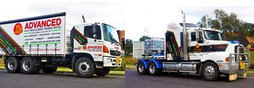 advanced heavy vehicle driver training centre truck with our business name