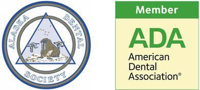 Alaska Dental Society and Alaska Dental Association logos