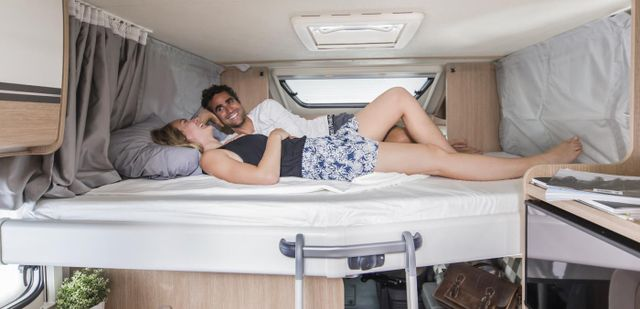 4 Berth Motorhome Rental Ireland - Sleeping