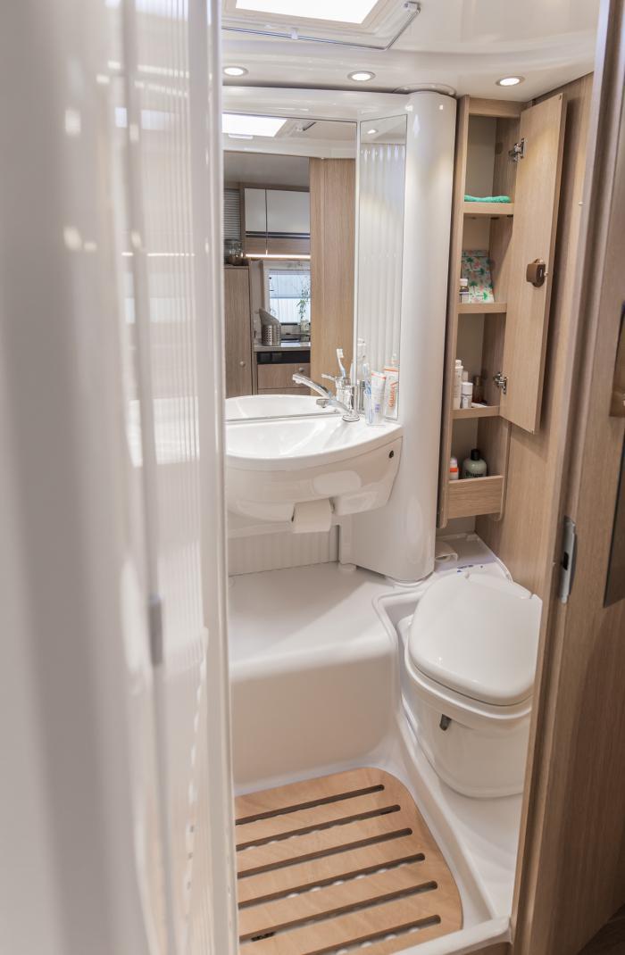 6 Berth Motorhome Rental Ireland - Bathroom & Shower