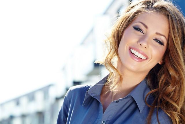 woman with a perfect smile