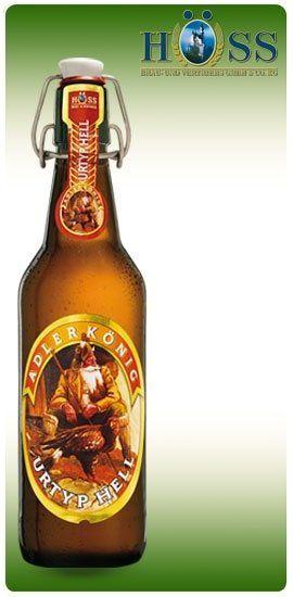 una bottiglia di birra della marca Alderkonic Urtyphell