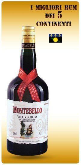 una bottiglia di rum Montebello