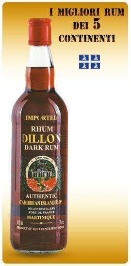 una bottiglia di rum Dillon dark rum
