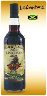 una bottiglia di rum Black Jamaica Spiced Rum