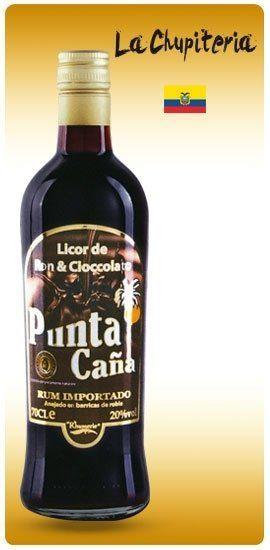 una bottiglia di rum  al cioccolato Punta Cana