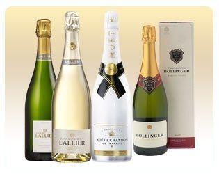 delle bottiglie di champagne