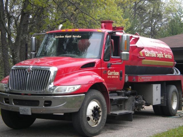 A septic tank cleaning in progress in Wisconsin Rapids, WI