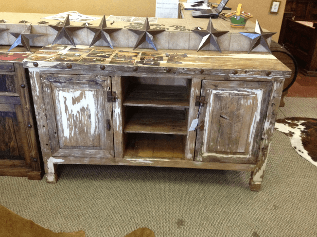 Howdy Home Furniture - Lone Star Rustic Cabinet
