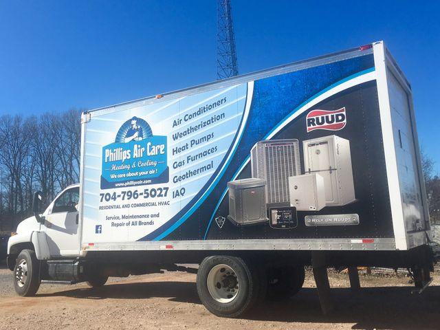 Phillips Air Care Heating Repair Services Van in Charlotte NC
