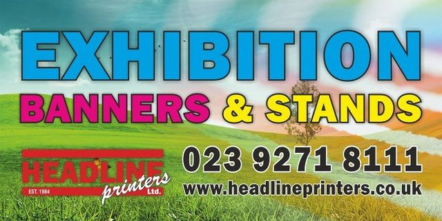 EXHIBITION BANNERS AND STANDS graphic