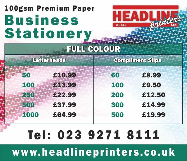 FULL COLOUR letterheads costs