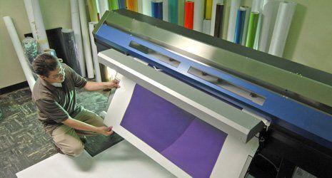 a man printing