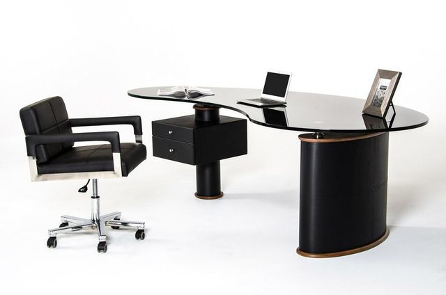 modrest robertson modern black and walnut office desk alaska black oak office desk
