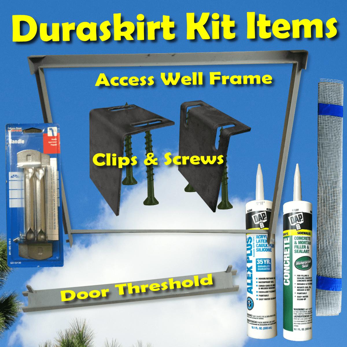 Duraskirt mobile home skirting kit accessories