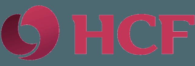 burgundy coloured HCF logo