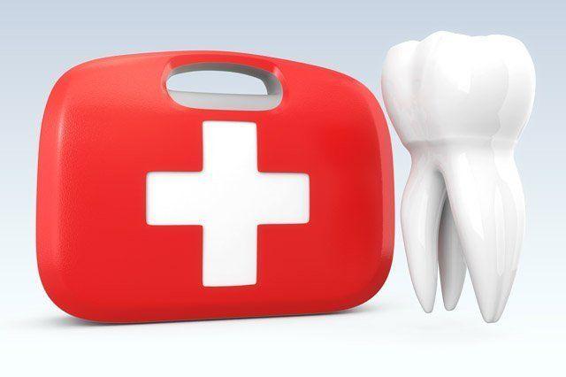 illustration of emergency dental work