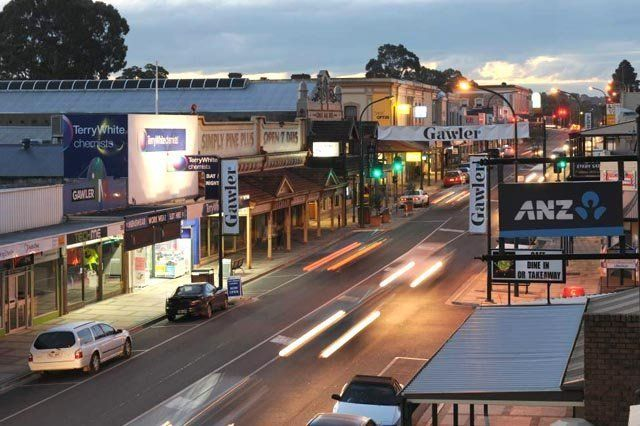 main street in gawler at dusk
