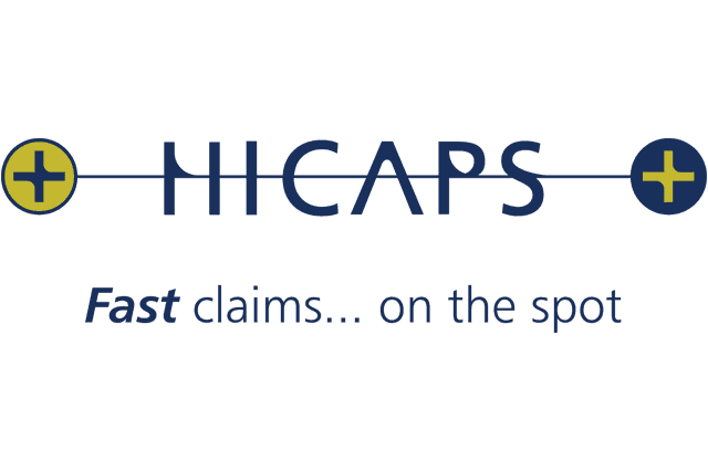 blue and yellow hicaps logo