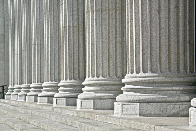 Roman columns in Commerce, GA