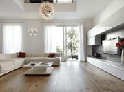 wooden floored home cinema