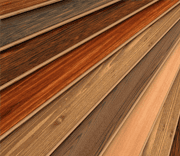a selection of laminate flooring