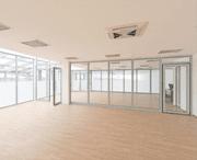 wooden floor in vacant office space
