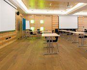 wood floor in classroom