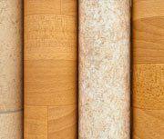 rolls of vinyl flooring
