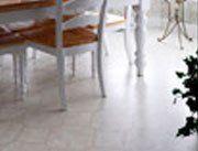 white marble tile effect flooring