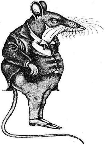graphic of a rat