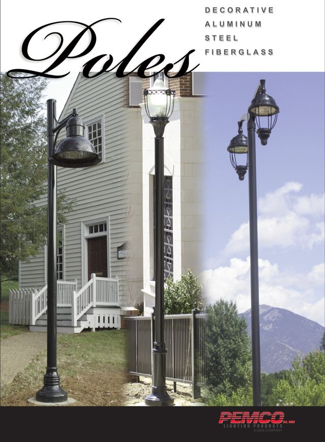 Pole Lighting Outdoor Light Poles Pemco Products
