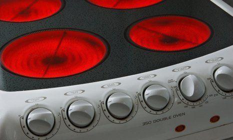 Cooker door heating up
