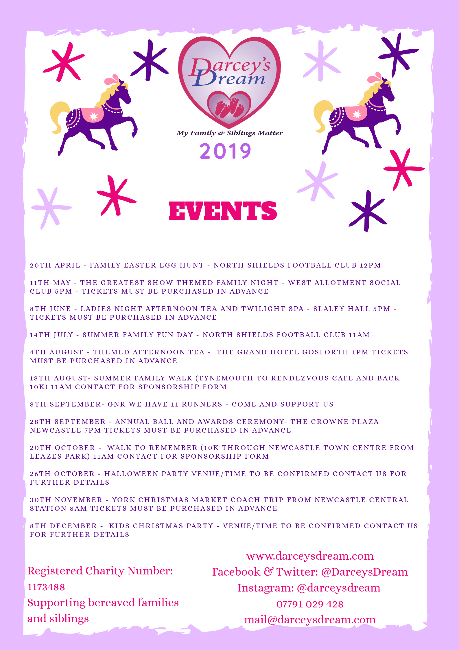 My Christmas Dream 2019.Darcey S Dream Charity Events And Fundraising
