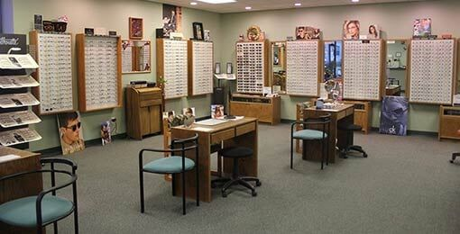 Inside of the Store - Optical products in Plainville, CT