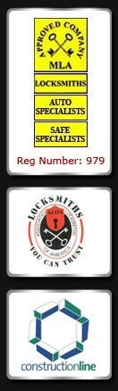 Locksmiths - London - A1 Seecure - MLA,  ALOA, Constructionline logos