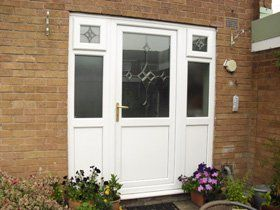 doors and windows with white frame
