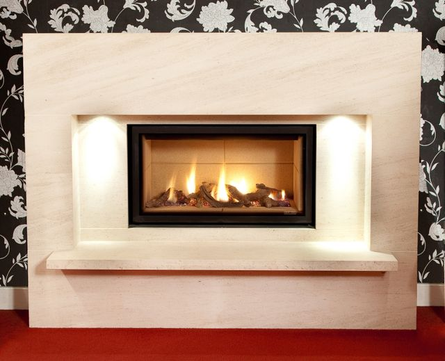 limestone fire place