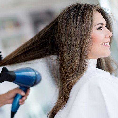 hair blow drying