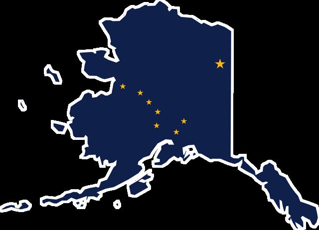 Flag map of Alaska svg